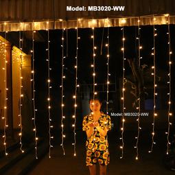 Đèn Mành Rèm 3 m*2m Dây điện màu Trắng - Không chớp nháy  - Thế Giới Đèn Nháy