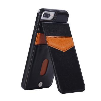 Bao da kiêm ví đựng tiền, thẻ, card.. cho các dòng IPhone Plus 6,7,8 rất tiện lợi
