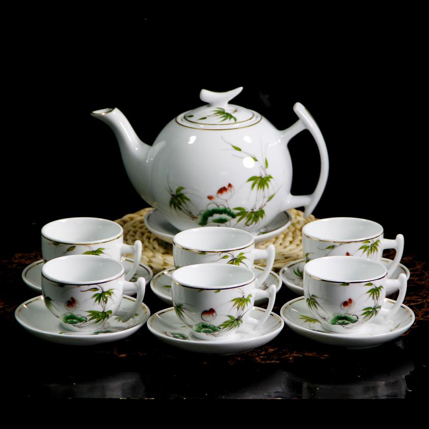 bộ ấm chén hình rồng, bộ ấm chén thấu quang, bộ ấm chén vẽ tay, bộ ấm chén màu xanh, bộ ấm chén uống trà, bộ ấm chén pha trà, bộ ấm chén trà