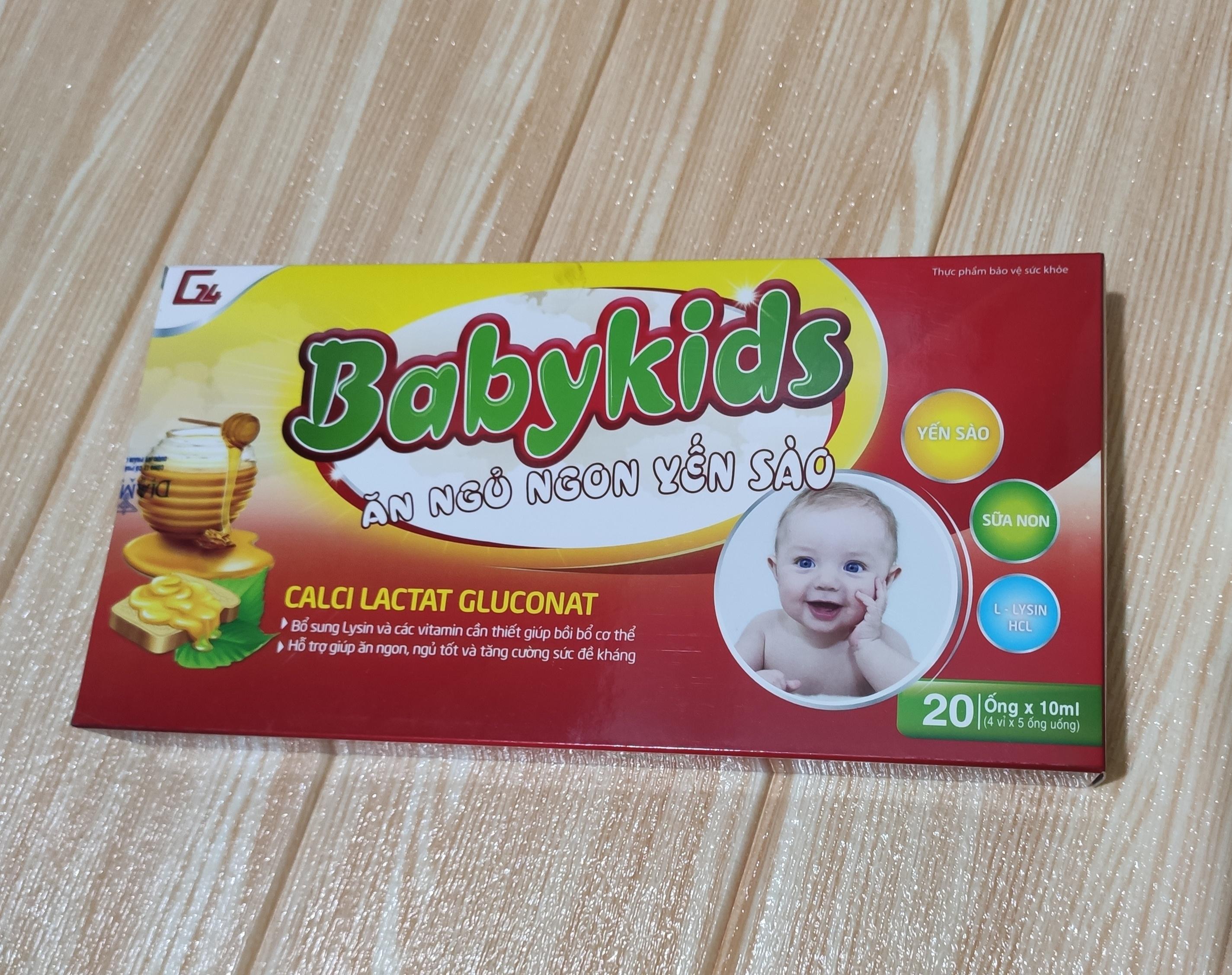 Combo sỉ 5 hộp babykids ăn ngủ ngon yến sào