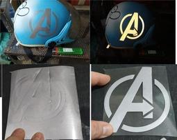 Sticker phản quang Avenger 10x7cm dán nón bảo hiểm quần áo