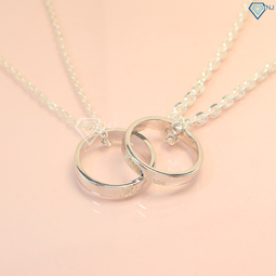 Dây chuyền đôi bạc, dây chuyền cặp bạc khắc tên theo yêu cầu DCD0019 - Trang Sức TNJ