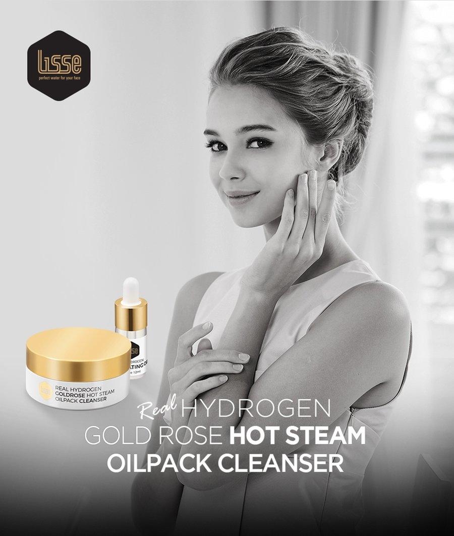 Lisse Real Hydro Gold Rose Hotseam Oilpack Cleanser (Bộ Sản Phẩm Nóng Sạch Hoa Hồng Vàng)