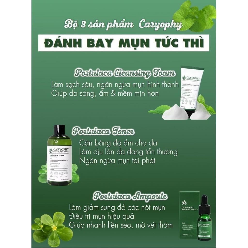 Bộ 3 Sản phẩm dưỡng da Caryophy (Cleansing Foam, Toner và Serum)