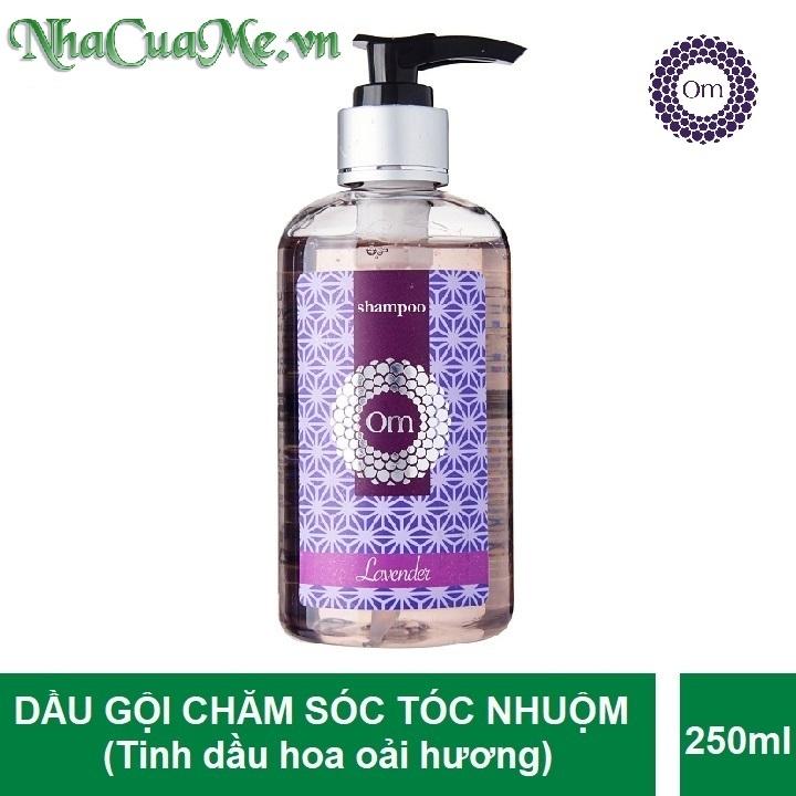 Om Fountain - Dầu gội Lavender Om Fountain Dưỡng ẩm Trị Gàu, Trị Rụng Tinh Dầu Oải Hương (dành cho tóc nhuộm)