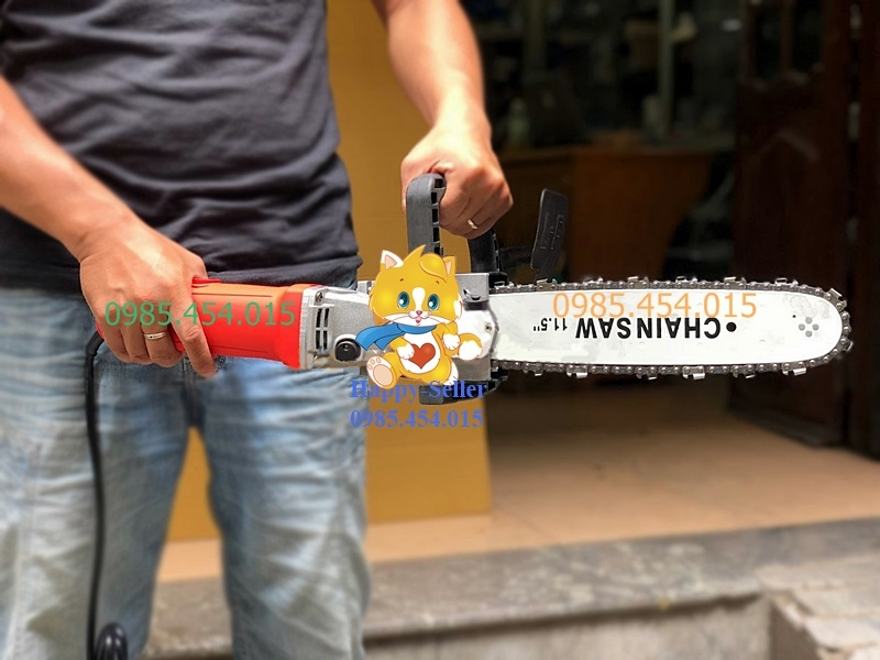 Bộ lam xích lắp chuyển máy mài thành máy cưa xich
