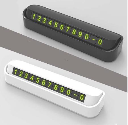 Bảng ghi số điện thoại, thẻ đỗ xe hiển thị số điện thoại gắn Taplo xe hơi,