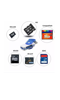 Đầu đọc thẻ nhớ Mini All-in-one Card reader (Nhiều màu) 1000000513