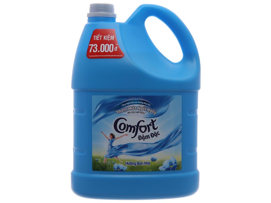 Nước xả làm mềm vải Comfort đậm đặc hương ban mai can 3,8L (Tặng Nước rửa chén SUNLIGHT Chanh 400g)