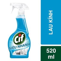 Nước lau kính Cif dạng chai xịt 520ml