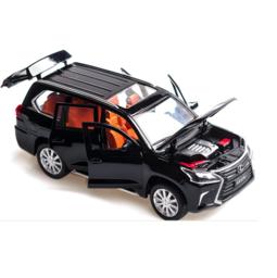 Mô hình xe ô tô LX570 bằng sắt mở các cửa đồ chơi trẻ em tỉ lệ 1:32