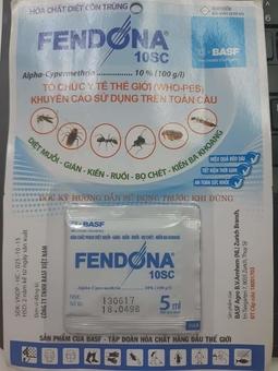 Thuốc diệt muỗi, tẩm mùng Fendona 10SC_5ml