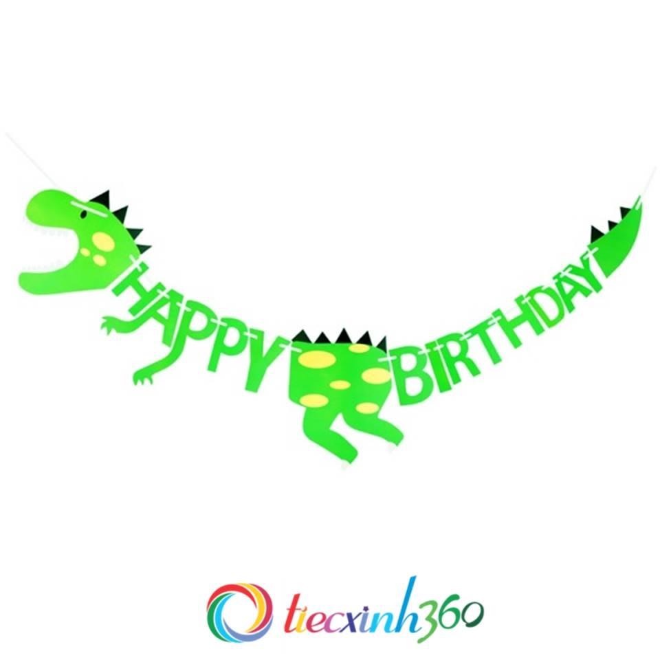 Dây chữ Happy Birthday trang trí sinh nhật hình khủng long