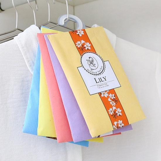 BỘ 2 túi thơm treo tủ quần áo nhiều mùi thơm