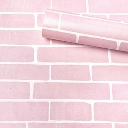 Giấy dán tường NỀN GIẢ GẠCH HỒNG khổ 45cm x 10m có keo sẵn