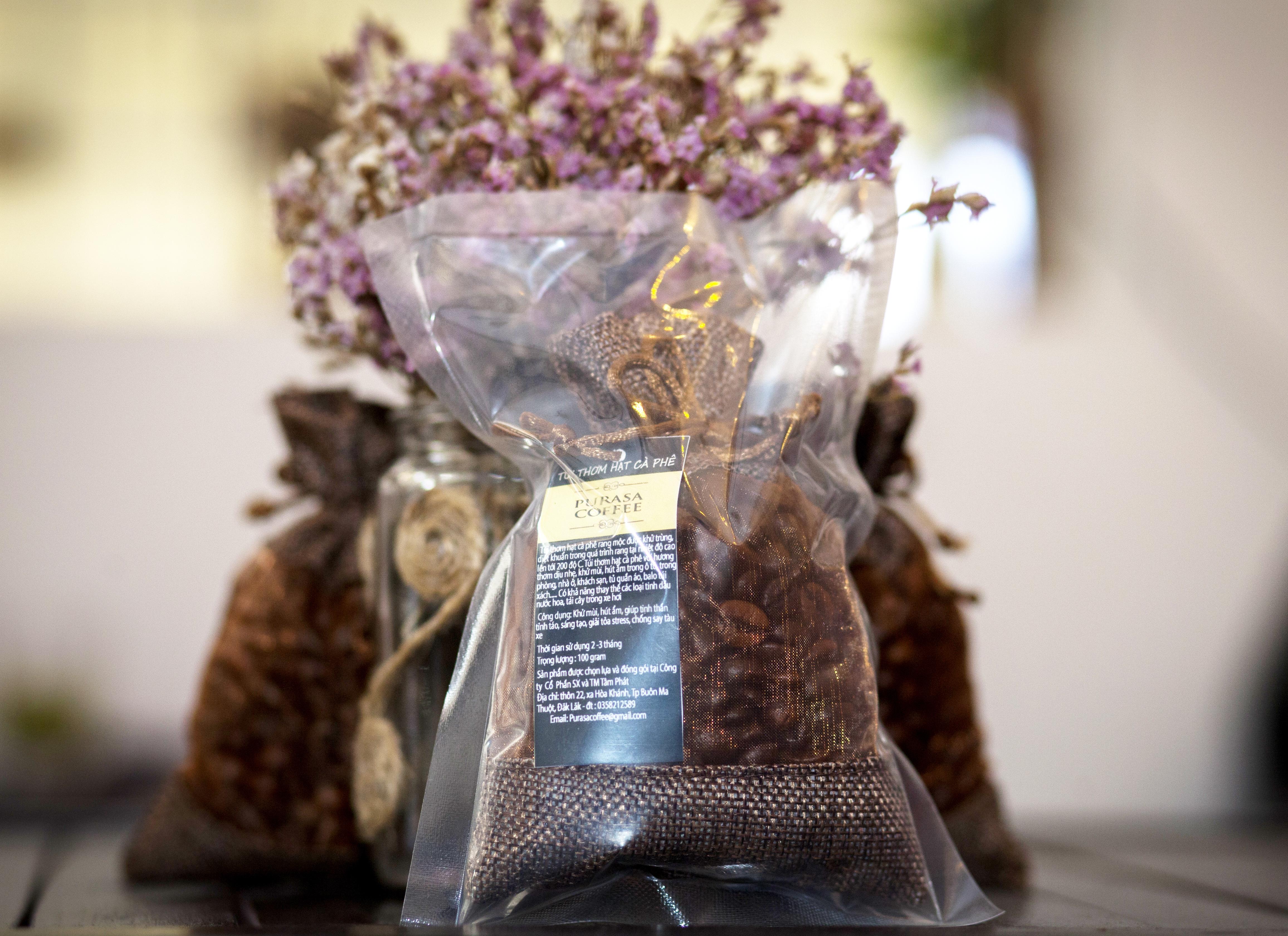 Túi thơm hạt cà phê PURASA