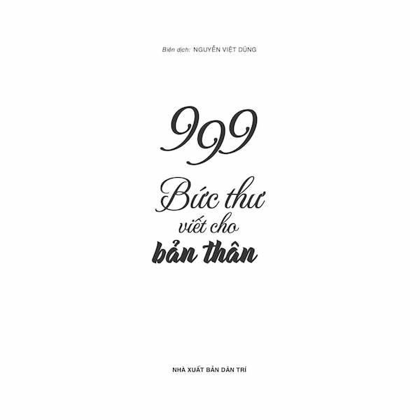 999 bức thư viết cho bản thân (Song ngữ Trung - Việt, có bính âm pinyin, có Audio do giáo viên TQ đọc) + DVD quà tặng