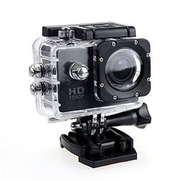 Camera Hành Động Thể Thao Ngoài Trời Kèm Vỏ Chống Nước Khi Lặn Camera Hành Trình Giá Rẻ Cho Xe Máy Camera Hành Trình Tốt A1S 12MP Full HD 1080 USB 2.0 HDMI Đen