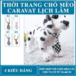 [THỜI TRANG CHÓ MÈO] Cà Vạt Cho Chó Mèo Thú Cưng có Vòng cổ từ 32-46cm - PKTT0901