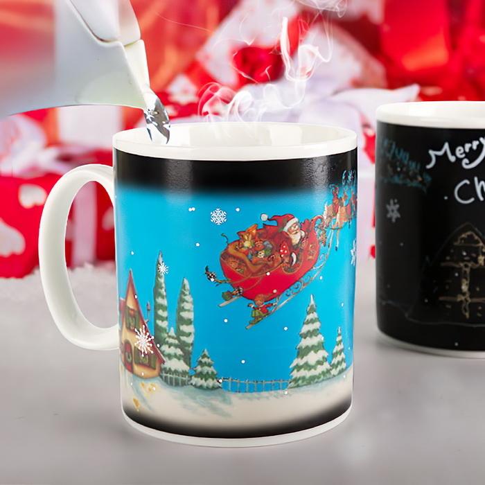 Ly đổi màu giáng sinh merry christmas, Cốc đổi màu phong cách Noel Giáng Sinh - Mẫu 3