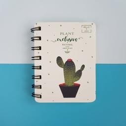Sổ ghi chú, sổ lò xo Xương rồng cactus giấy kẻ dòng