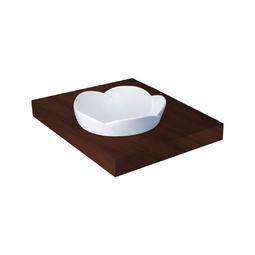 Chậu rửa đặt bàn bằng sứ trắng 435*435*185 mã C0001
