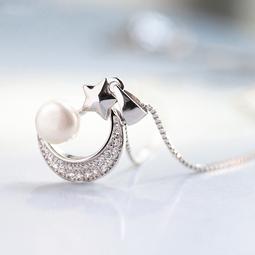 Dây chuyền nữ bạc S925 ước nguyện tình yêu - Silver Star Moon DC96