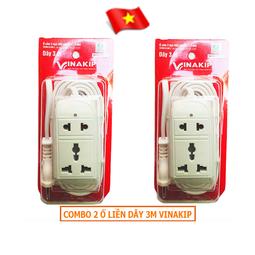 Ổ cắm điện du lịch liền dây 3m Vinakip S11 10A 250V