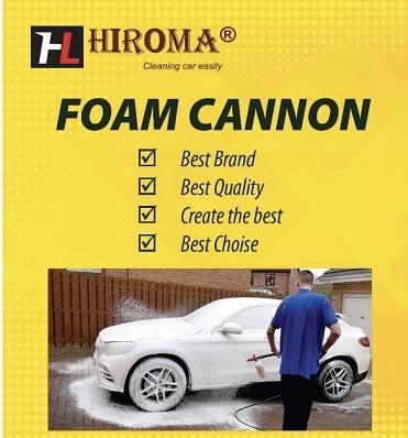 Máy rửa xe cao áp HIROMA công suất 2300W Piston tráng sứ cực bền dành cho tiệm rửa xe máy.