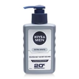 Sửa Rửa Mặt tạo Bọt Siêu Mịn Trắng Da cho nam giới Nivea Men Extra White 100ml (Thái Lan)