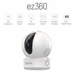 Camera không dây Ezviz CS-CV246 1.0 Megapixel (Tặng kèm thẻ nhớ 32GB)