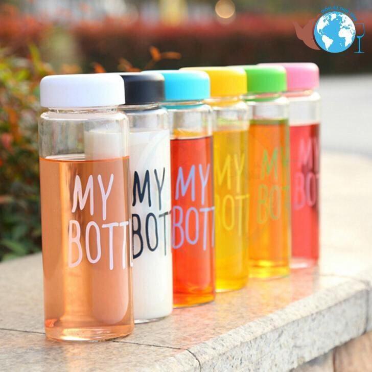 Bình đựng nước thủy tinh My bottle nắp nhiều màu