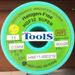 Thiếc hàn cuộn không chì Heesung HGF32 Super