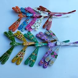 Combo 10 con chuồn chuồn tre nhiều màu (kích thước 12cm)