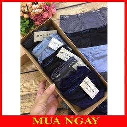 Hộp 5 quần sịp đùi nam chất vải thông hơi Muji