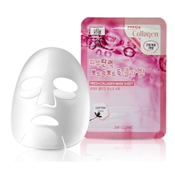 Mặt Nạ Tái Tạo Da Từ Collagen 3w Clinic Fresh Collagen Mask Sheet 100% Cotton (23ml)