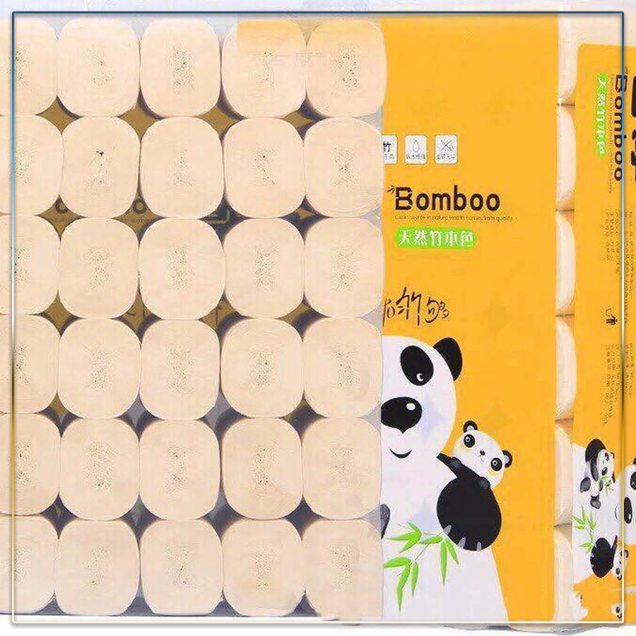 Bịch 36 cuộn giấy vệ sinh gấu trúc Sipiao đa năng siêu dai - TOT Shop