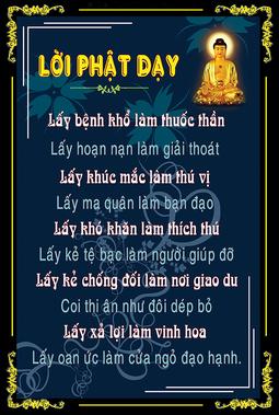Tranh Lời Phật Dạy HP_2600 - 40 x 60