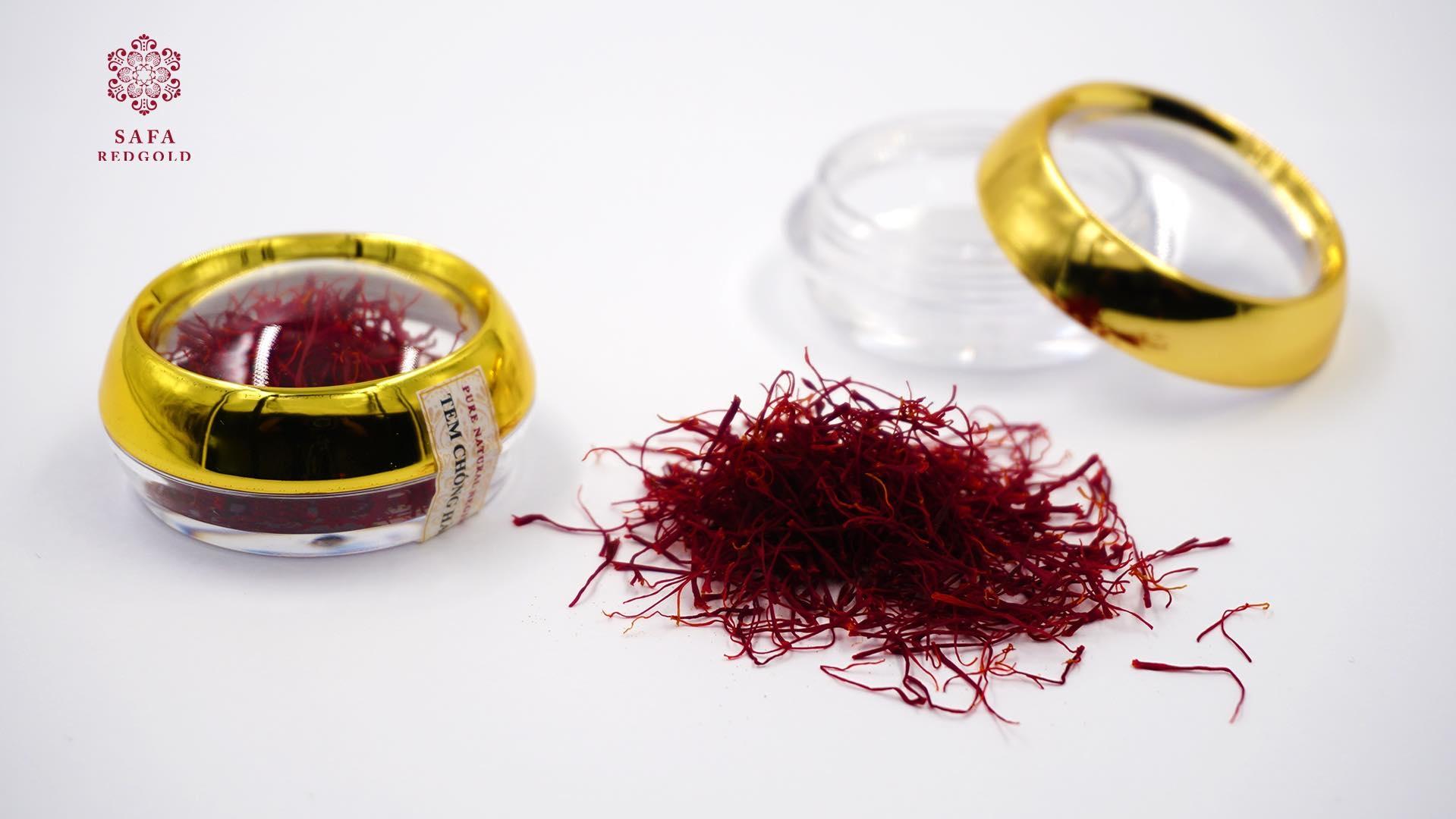 Saffron redgold - Nhụy hoa nghệ tây 1gr - hộp đỏ