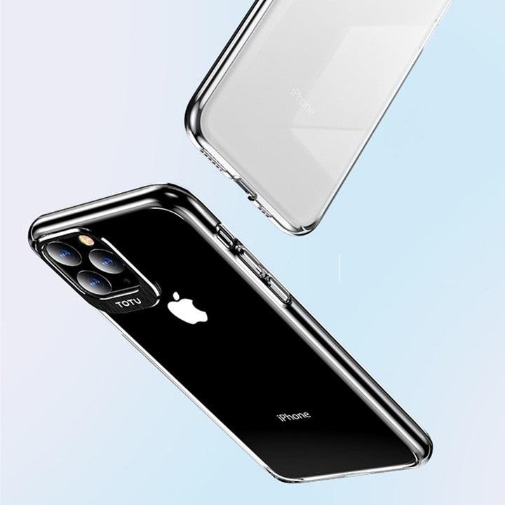 Ốp lưng TOTU Bảo Vệ Camera cho iPhone 11/ iPhone 11 Pro/ iPhone 11 Pro Max Chính hãng ( Lưng trong - Viền camera màu )