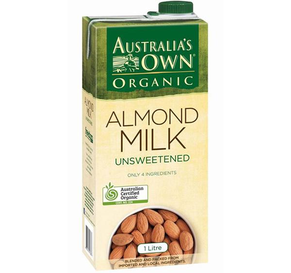 Sữa Hạnh Nhân Không Đường Organic Australia's Own 1L