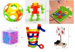 Combo Đồ chơi lắp ráp bóng lăn, bóng vui nhộn, robot lắp ghép, hộp mê cung 3d, bảng gỗ nút áo cho bé, bộ đèn ngủ DIY