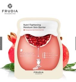 Mặt Nạ Giữ Ẩm Dưỡng Chất Trái Lựu Frudia Pomegranate Nutri-Moisturizing Mask 27ml (5 miếng/ Hộp)