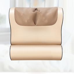 Gối massage Jinkairui 8 bi, hồng ngoại trị liệu cổ, vai ,gáy, cột sống lưng chất liệu da, vải chống thấm nước