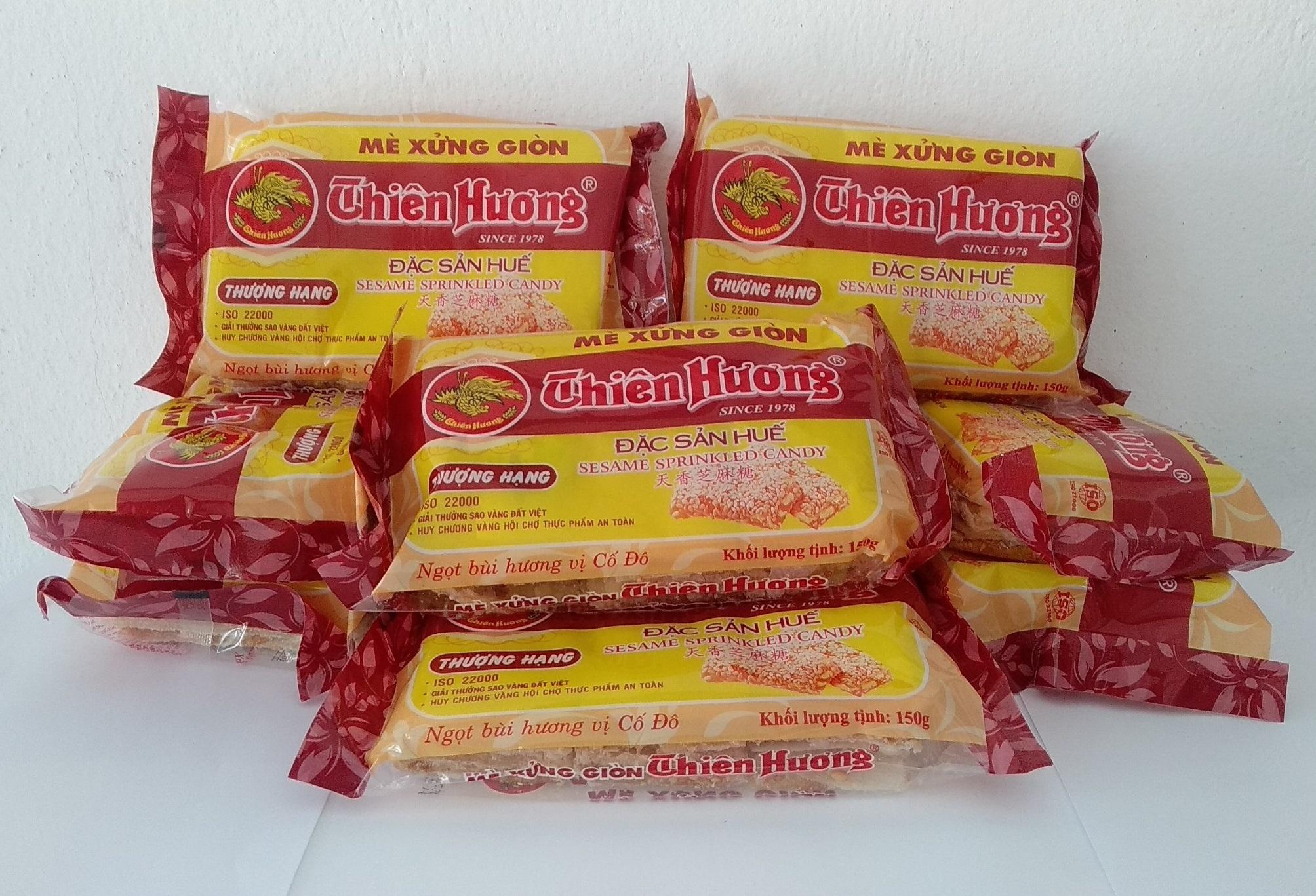 Đặc sản Huế: Combo Mè xửng Thiên Hương giòn (10 gói)