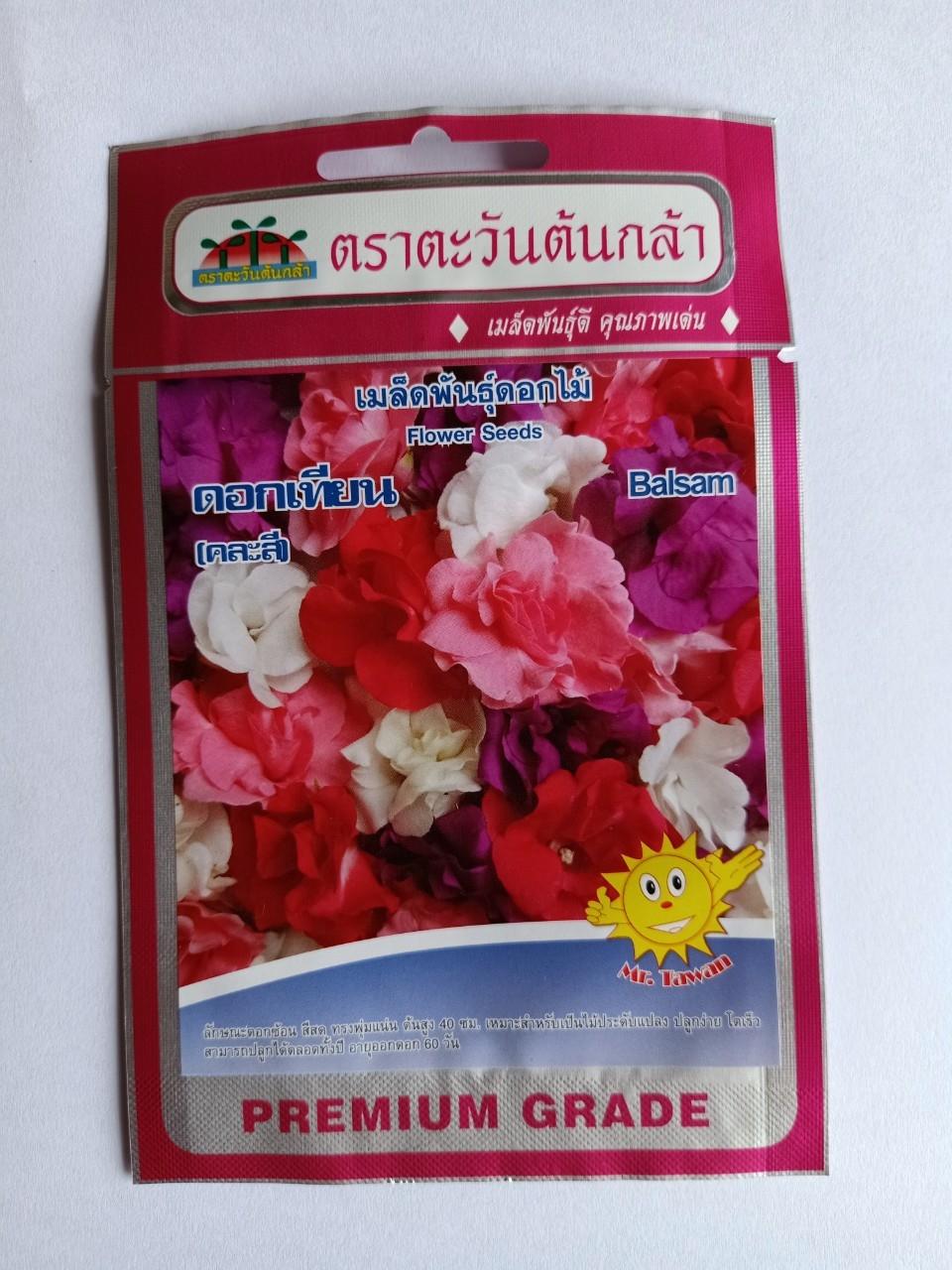 Hạt giống hoa móng tay kép nhiều màu nhập khẩu Thái Lan