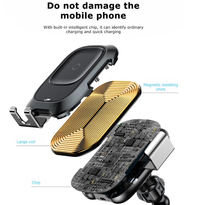 Giá đỡ điện thoại kiêm sạc không dây Baseus cao cấp WXZN-B01