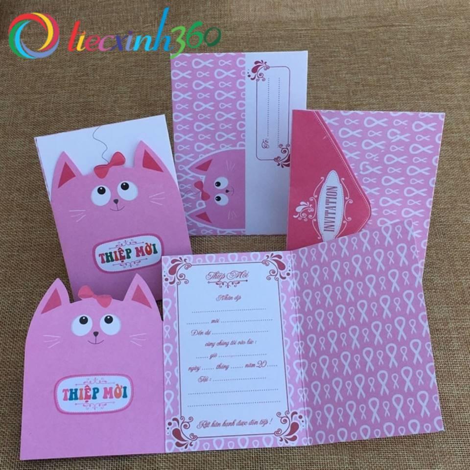 5 thiệp mời sinh nhật Cute cat