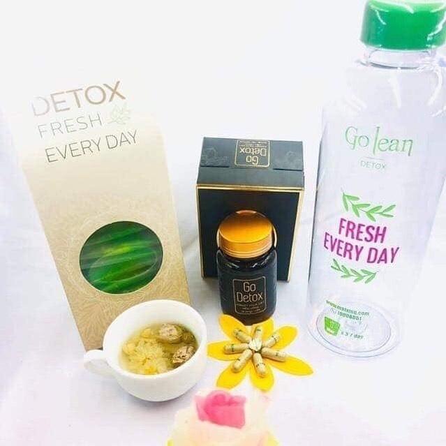 Viên giảm cân Godetox và trà hoa thải độc