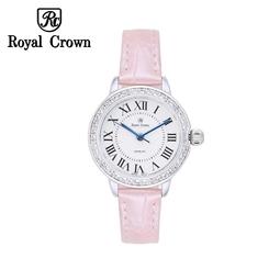 Đồng hồ nữ Chính Hãng Royal Crown 4601L-ST-P (dây da hồng)